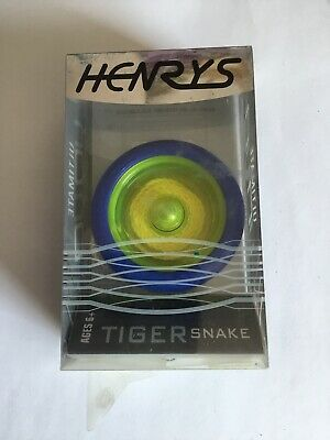 YoYo Henrys Tiger Snake- Professional High Speed Yo-yo- Yellow/Blue • 10£