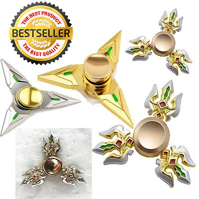 Genji Fidget Hand Spinner Triangle Finger Focus Toy EDC ADHD Autism Antistress • 2.99£