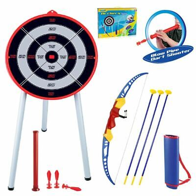 Kids Toy Bow & Arrow Archery Set And Target Outdoor Garden Fun Game Robin Hood • 19.99£