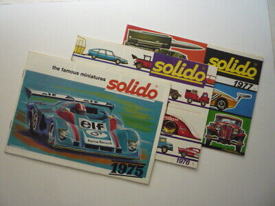 3 X Original 1970's Solido Model Toy Catalogue Brochures • 10£