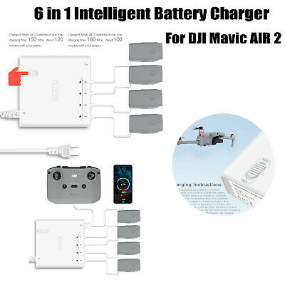 For DJI Mavic Air 2 6 IN 1 Multi Battery Charger Charging Hub Adapter Part • 40.46£