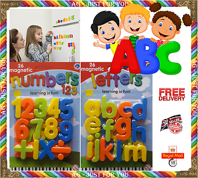 Kids Toy Magnetic Teaching Learning  - Letters & Numbers Fridge Magnets Alphabet • 2.99£