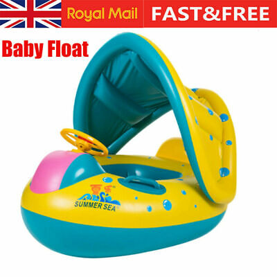Baby Swimming Ring Inflatable Float Seat Boat Toddler Kids Pool Swim Aid Toys • 9.98£