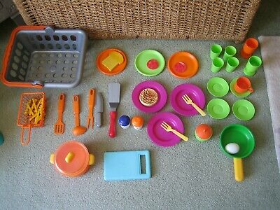 Toy Play Pots And Pans With Shopping Basket ELC • 4.99£