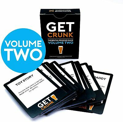 Get Crunk Volume 2 - The Brutal Card Drinking Game For Students, Pre Drinks • 11.80£