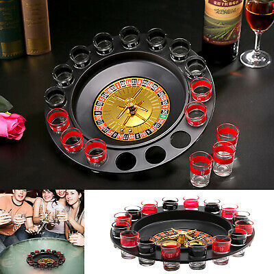 Party Casino For Adults Drinking Casino Glasses Game Spin & Shot Roulette Wheel • 6.49£