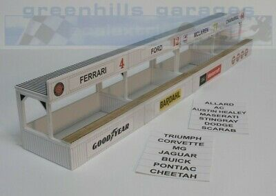 Greenhills Scalextric Slot Car Building Kit American Pit Boxes 1:32 Scale - B... • 19.79£