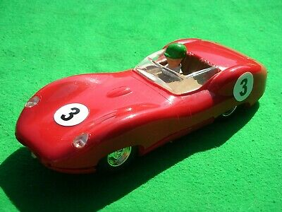 Triang / Scalextric Red Lister Jaguar Loop Braid Very Nice Condition & Runner • 35£