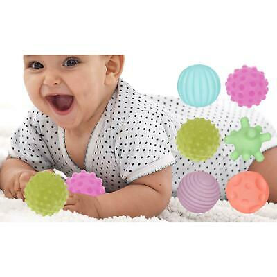 New 6 Piece First Baby Ball Set Baby Hand Massage Multi Textured Sensory Soft • 13.79£