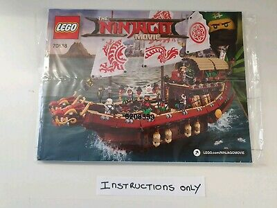 Lego Ninjago Movie Ship 70618 ☆ INSTRUCTIONS ONLY ☆ New • 5.99£