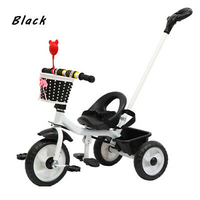New Black&White Kids Trike Boys Girls Push Along Tricycle BIKE 3 Wheels Tricycle • 34.99£