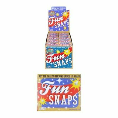 Fun Snaps Throw Bangers Snap Bangs Party Snaps Prank Pack Of 50 • 1.50£