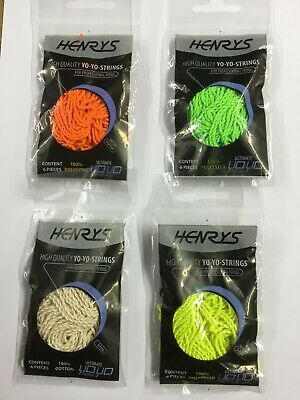 Henry's Ultimate YoYo  String, Various Colours. Pack Of 6, New. Bargain Price! • 3.95£