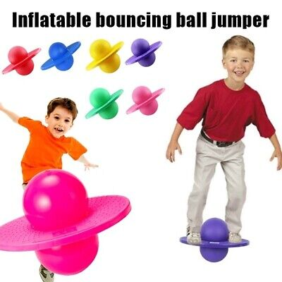 Large Exercise Retro 60cm Jump Space Hopper Toy Kids Adult Party Game Garden   • 18.90£