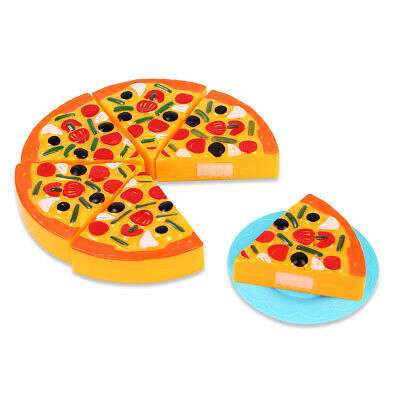 6pcs Pretend Pizza Slices Cutting Dinner Kitchen Play Food Toys For Kids Gifts • 3.99£