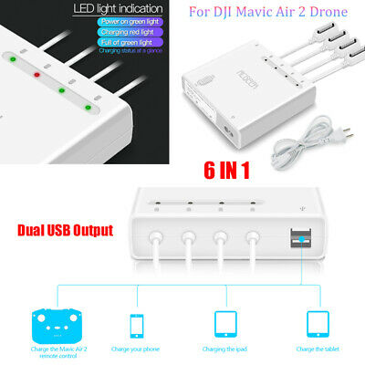 6 In1 Intelligent Fast Charging Hub Multi Battery Charger For Rc DJI Mavic Air 2 • 39.61£