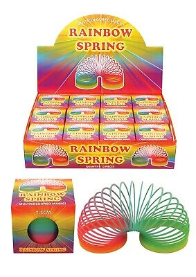Childrens Playing Rainbow Springing Bouncy Spring 7.5cm • 9.99£