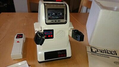 Tomy Chatbot, Vintage 1980's Robot Toy, Excellent Condition, Complete With Box • 28£
