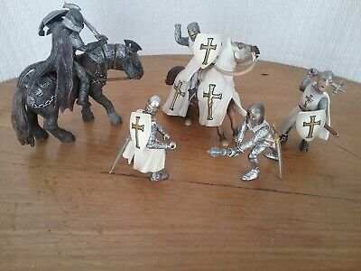 Set Of 7 Schleich Medieval Fantasy Crusaders Knights Horse Action Figures Toys • 18£