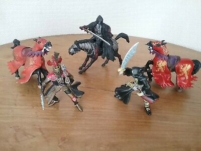 Set Of 6 Papo Medieval Fantasy Knights Horse Action Figures Toys • 20£