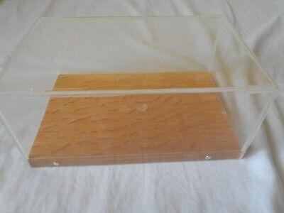 Hand Made Perspex Display Case With Wooden Base • 2.99£