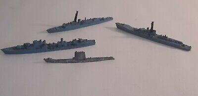 Triang Minic Waterline Ships HMS Dainty , Volage , Torquay And A Submarine • 5£