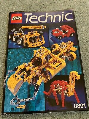 LEGO Idea Book 8891 Technic Instructions Only - 1991 Instruction Manual C • 2£