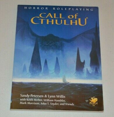 CALL OF CTHULHU 5.5 Softcover Rulebook Rules Chaosium RPG • 28£