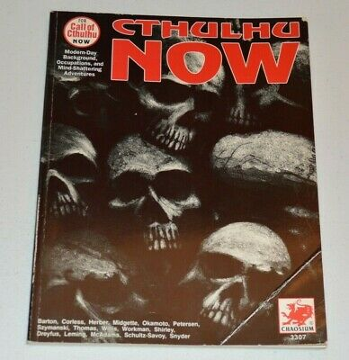 Call Of Cthulhu CTHULHU NOW 1992 Revised Edition Chaosium 1990's RPG • 20£