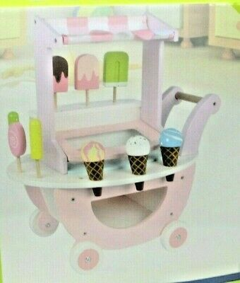 Ice Cream Sweet Cart Wooden Play Shop Toys Toy Set For Kid  • 24.99£