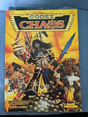 **Rare** Codex: Chaos Warhammer 40k, 2nd Edition, Softcover (1996) • 24.99£