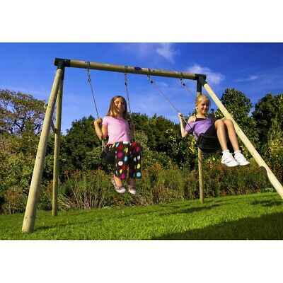 Plum Marmoset Wooden Swing Set • 189.95£