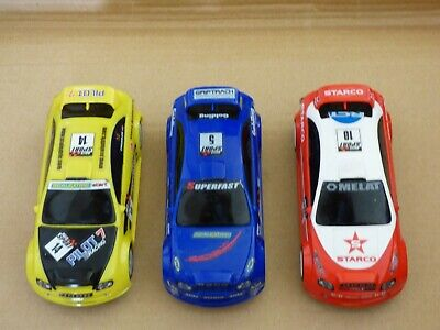 Scalextric Rally Cars In Red, Yellow And Blue Colours • 5.50£