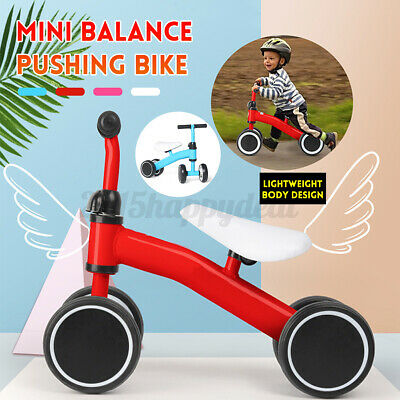 Mini Kids Balance Pushing Bike Toddler Training Bicycle 4 Color Baby Cycling • 15.99£