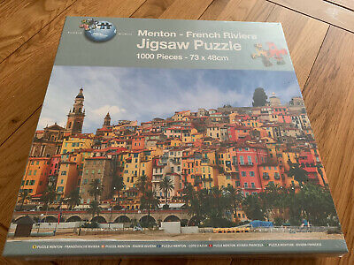 Puzzle World 1000 Piece Jigsaw Puzzle Mentor-French Riviera Brand New • 3.25£