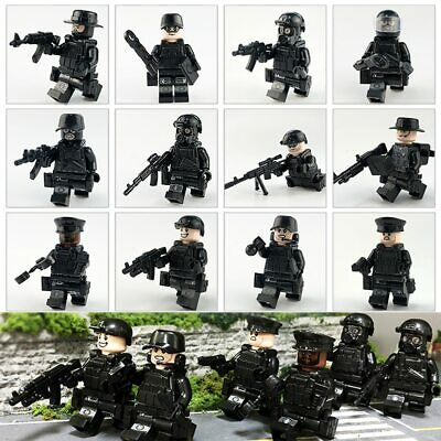 12PCS Police SWAT Army With Weapons Guns Etc Mini Figures Fit Lego UK SELLER • 9.99£
