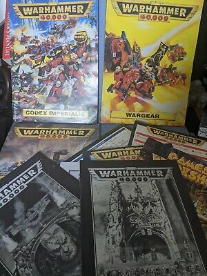 *Retro* 40K, 2nd Edition, Rulebook, Wargear, Codex Imperialis & Pamphlets 1993 • 23£