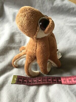 Small Soft Animal Toy Brown Cream Octopus  • 0.99£