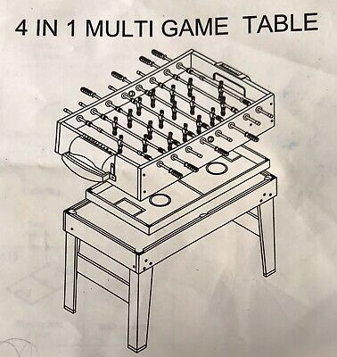 4 IN 1 GAMES TABLE - Fab Condition! • 20£