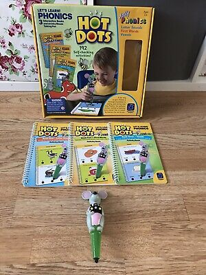 3 Hot Dots Books & Pen; Jolly Phonics • 12.99£