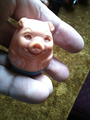 A Vintage Weeble Character, A Happy Smiling Pig. • 3.50£