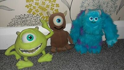 Monsters Inc Mike Wazowski Sulley Little Mikey Soft Toys • 2.20£