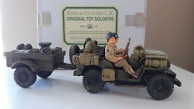 King And Country Ww2 D-day Us Willy's Keep Trailer Dd14 Dd014 1:30   • 149.99£