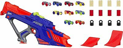 New Nerf Nitro Motorised Fury Motor Rapid Rally Diecast Toy With 9 Cars Launcher • 23.99£