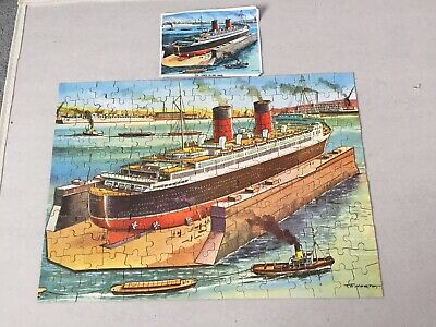 Vintage Waddingtons ? No 174 The Liner In Dry Dock Jigsaw Puzzle - Rare • 10.99£