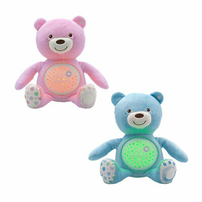 NEW Chicco First Dreams Baby Bear Pink Musical Night Light Plush Teddy Toy • 24.99£