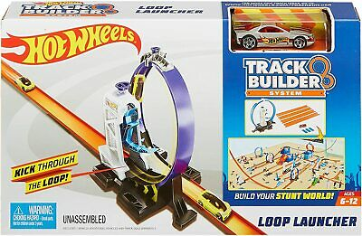 Hot Wheels DMH51 Track Builder Connectable Loop Launcher Set With Diecast And Mi • 10.50£