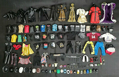 WWE Clothes Wearables Accessories For Wrestling Figures Lot Wwf/wcw/ecw • 8.99£