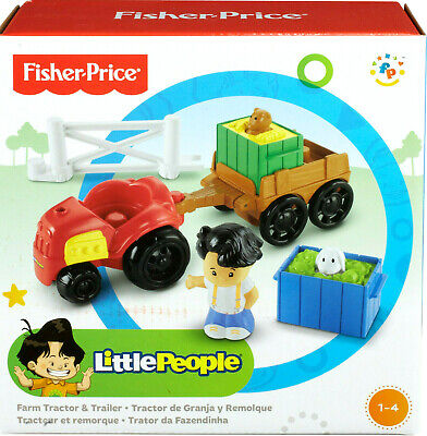 Fisher-Price Little People Farm Tractor & Trailer Set Brand New • 9.99£