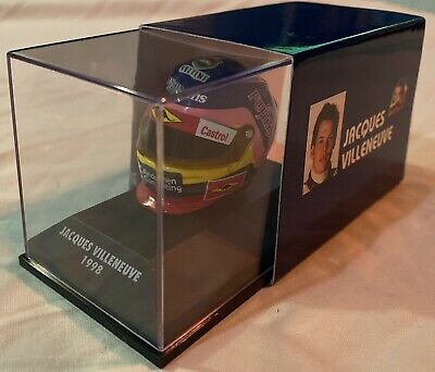 1:8 Minichamps Jacques Villeneuve Williams FW20 Mecachrome Helmet 1998 • 30£